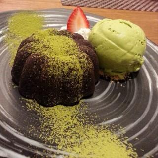 Greentea lava cake - 位于ลุมพินี的Yuutaro (ลุมพินี) | 曼谷