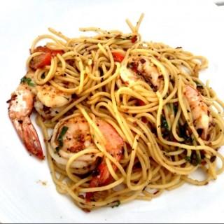 Aglio Olio with prawns - Sentosa's Coastes (Sentosa)|Singapore