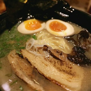 W SOUP TONKOTSU Ramen with flavoured soft boiled egg -  Orchard / Sanpoutei Ramen (Orchard)|Singapore