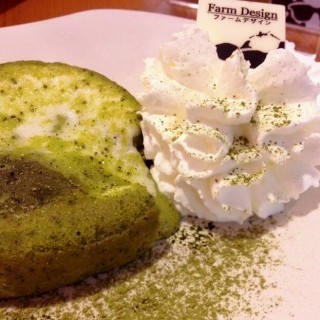 Matcha lava cheesecake - Pathum Wan's Farm Design (ฟาร์ม ดีไซน์) (Pathum Wan)|Bangkok