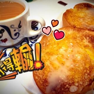 奶油豬🐷 + 港式奶茶 - 位於山頂的翠華餐廳 (山頂)   香港