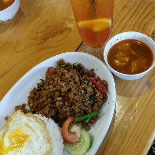 minced pork thai basil rice set meal -  Serangoon / Sakon Thai (Serangoon)|Singapore