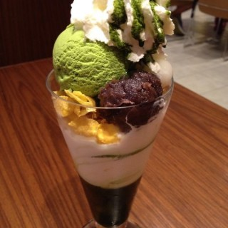 green tea parfait -  Dhoby Ghaut / Nana's Green Tea (Dhoby Ghaut)|Singapore