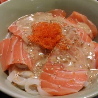 三文魚冷烏冬 - 位於的赤壽司 (北角) | 香港
