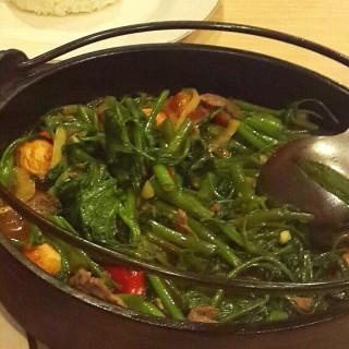 Kangkung Hotplate Seafood -  dari Taman Laut Jumbo Seafood Restaurant (Pajajaran) di Pajajaran |Jakarta