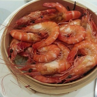 Steamed herbal prawns - Chinatown's Spring Court (Chinatown)|Singapore