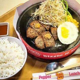 double hamburg - Mayjen Sungkono's Pepper Lunch (Mayjen Sungkono)|Surabaya