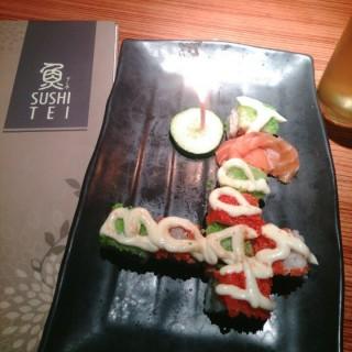 Sushi birthday cake - Slipi's Sushi Tei (Slipi) Jakarta