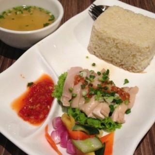 nasi hainam ayam rebus -  dari X.O Cafe & Bistro (Sukolilo) di Sukolilo |Surabaya
