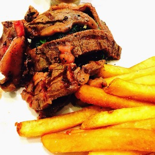 U.S. certified Rib Eye with Fries - Greenhills 's Roots Market Bistro (Greenhills )|Metro Manila