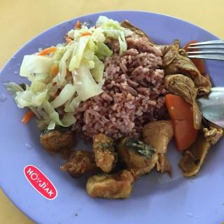 Vegetarian mixed food with brown rice -  Ang Mo Kio / Yuan Fa Shou Shi (Ang Mo Kio)|Singapore