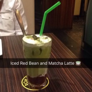Iced  Red  Bean  and  Matcha  Latte - 位於的Pokka Cafe (青衣) | 香港
