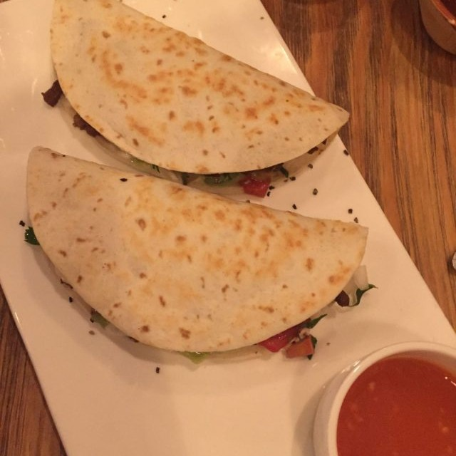 smoked pork quesadillas