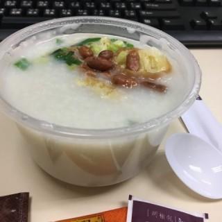 迷你瘦肉粥配蒸蘿蔔糕 ($30) 外賣 (+$1) - 位於灣仔的海皇粥店 (灣仔) | 香港