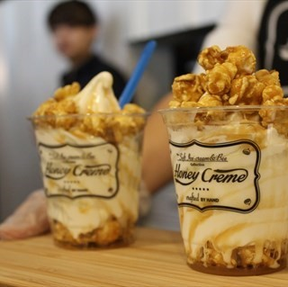 Popcorn Soft Serve -  dari Honey Creme (Somerset) di Somerset |Singapura
