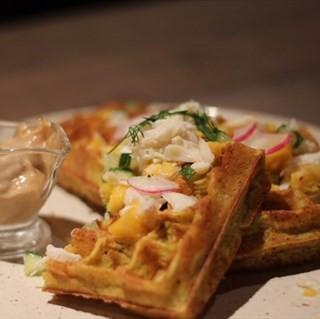 Assam Crab Waffle -   / Montana Brew Bar (Dhoby Ghaut)|Singapore