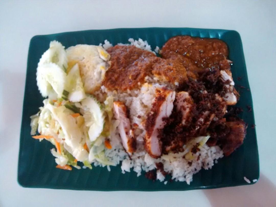 Nasi Lemak Kukus Ayam Goreng Berempah Asia Cafe S Photo In