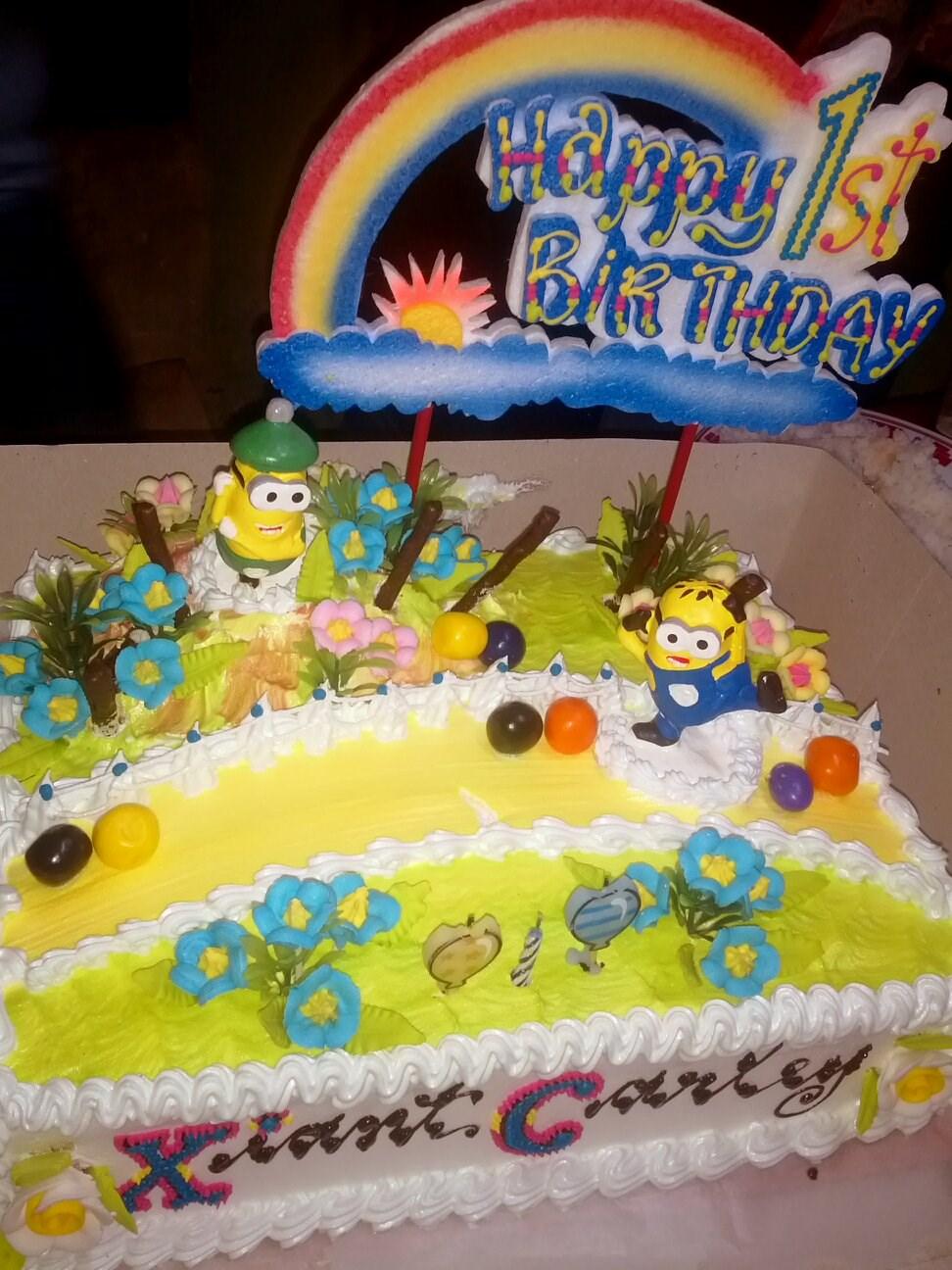 Minion Birthday Cake Bakers Fairs Photo In Malinao Metro Manila